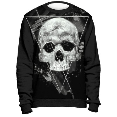 teelaunch Christmas Sweater XS Big Skull Dark Sweatshirt