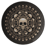 teelaunch Dinnerware Single Plate Skull & Bones Dinner Plate