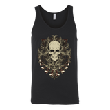teelaunch T-shirt Canvas Unisex Tank / Black / S Ornamental Skull Tanks