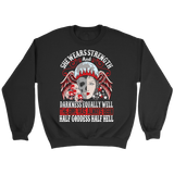 teelaunch T-shirt Crewneck Sweatshirt / Black / S Half Goddess Half Hell