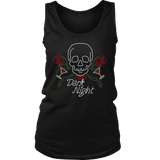 teelaunch T-shirt District Womens Tank / Black / S Dark Night Skull Tanks