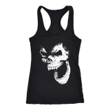 teelaunch T-shirt Next Level Racerback Tank / Black / XS Angry Skull Tanks