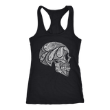 teelaunch T-shirt Next Level Racerback Tank / Black / XS Cool Skull Tanks