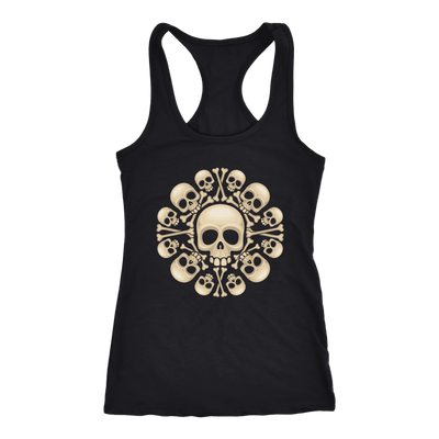 teelaunch T-shirt Next Level Racerback Tank / Black / XS Skull & Bones Tanks