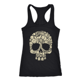 teelaunch T-shirt Next Level Racerback Tank / Black / XS Skull of Floral Tanks