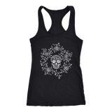 teelaunch T-shirt Next Level Racerback Tank / Black / XS Skull & Roses Tanks