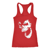teelaunch T-shirt Next Level Racerback Tank / Red / XS Angry Skull Tanks