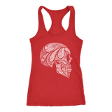 teelaunch T-shirt Next Level Racerback Tank / Red / XS Cool Skull Tanks