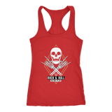 teelaunch T-shirt Next Level Racerback Tank / Red / XS Rock & Roll Skull Tanks