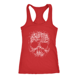 teelaunch T-shirt Next Level Racerback Tank / Red / XS Sketched Skull Tanks