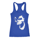 teelaunch T-shirt Next Level Racerback Tank / Royal / XS Angry Skull Tanks