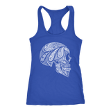 teelaunch T-shirt Next Level Racerback Tank / Royal / XS Cool Skull Tanks