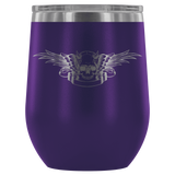 teelaunch Wine Tumbler Purple Winged Skull Wine Tumbler
