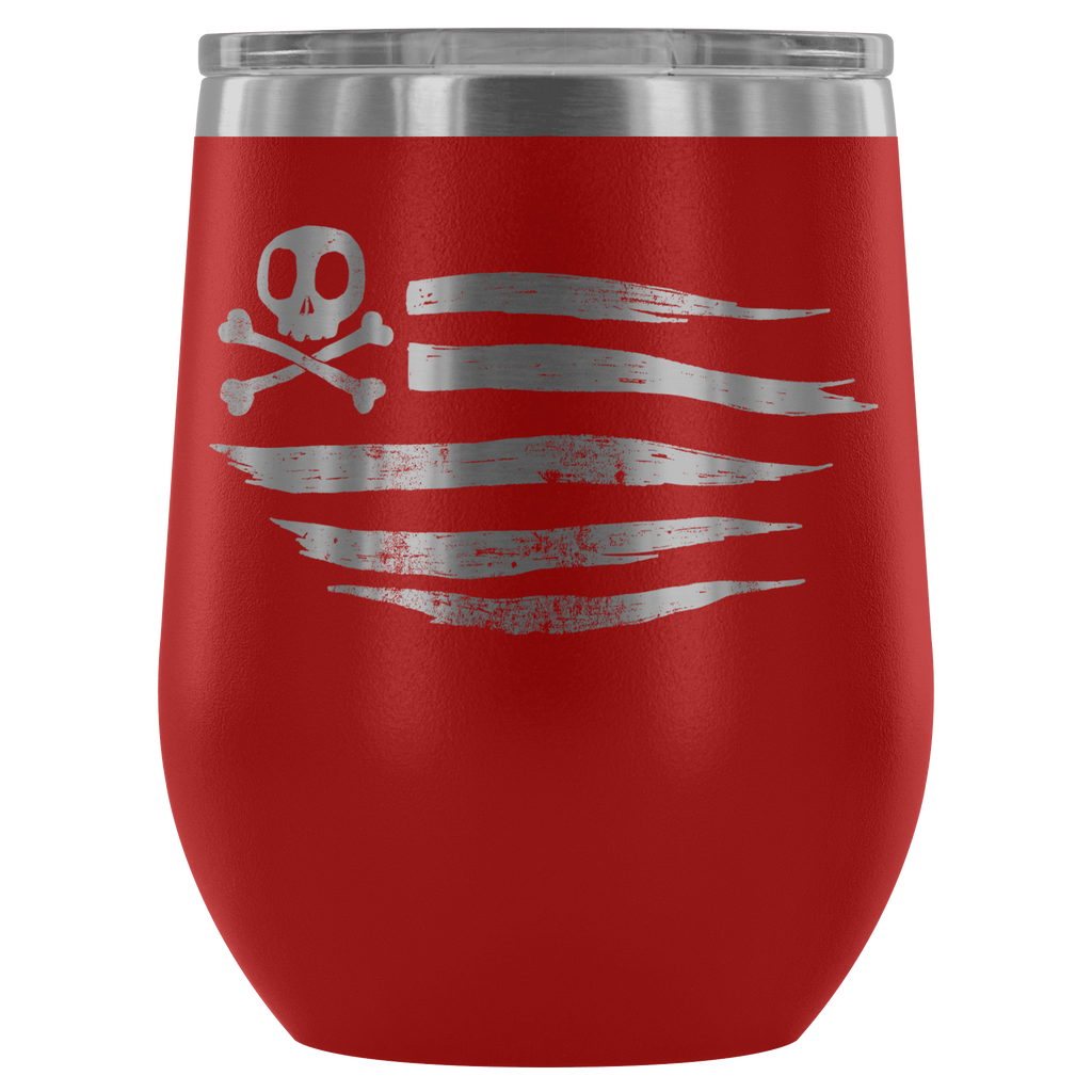 teelaunch Wine Tumbler Red American Flag Wine Tumbler