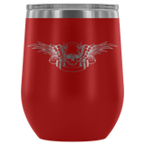 teelaunch Wine Tumbler Red Winged Skull Wine Tumbler