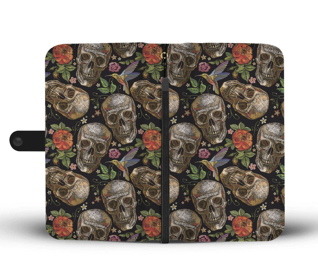 wc-fulfillment Wallet Case Skull & Birds Wallet Case