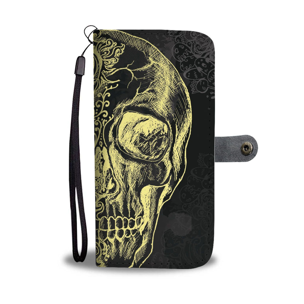wc-fulfillment Wallet Case Vintage Skull wallet Case