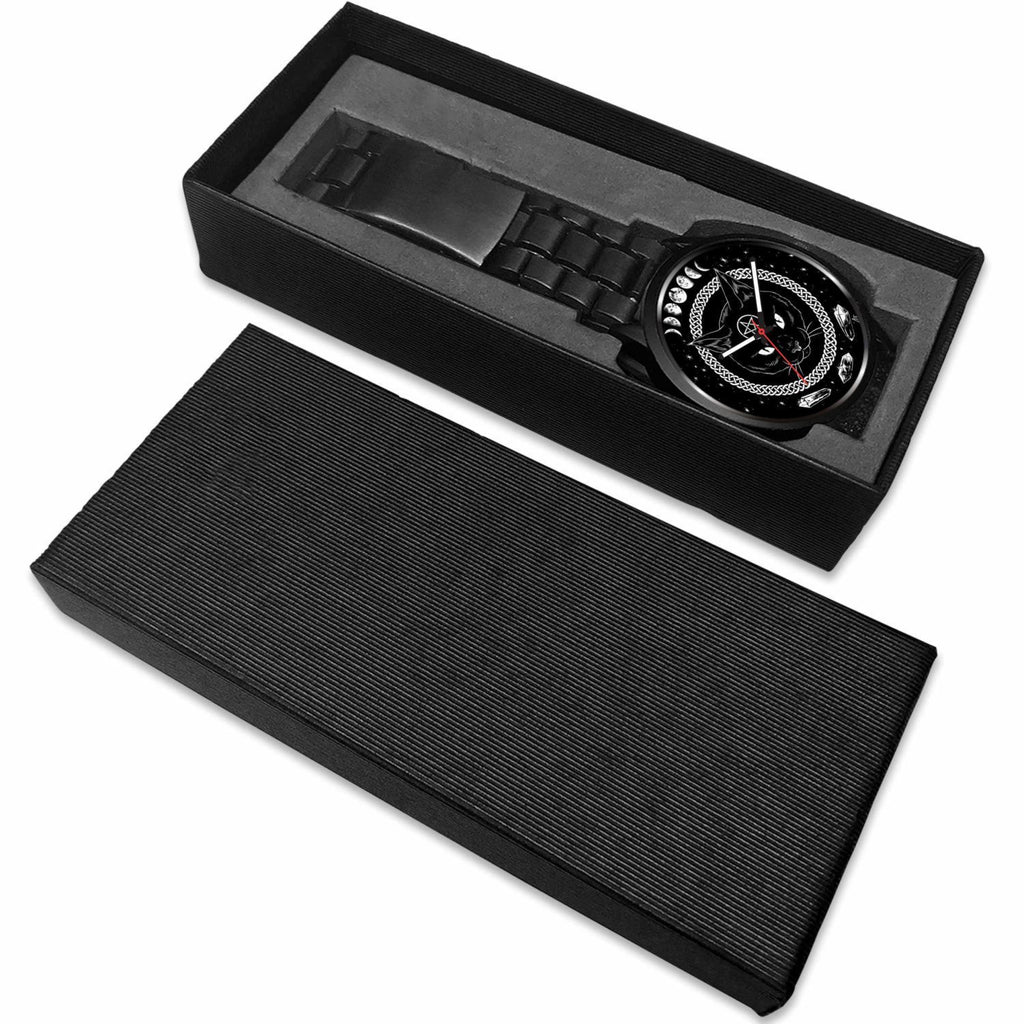 wc-fulfillment Watch Black Cat Gothic Watch