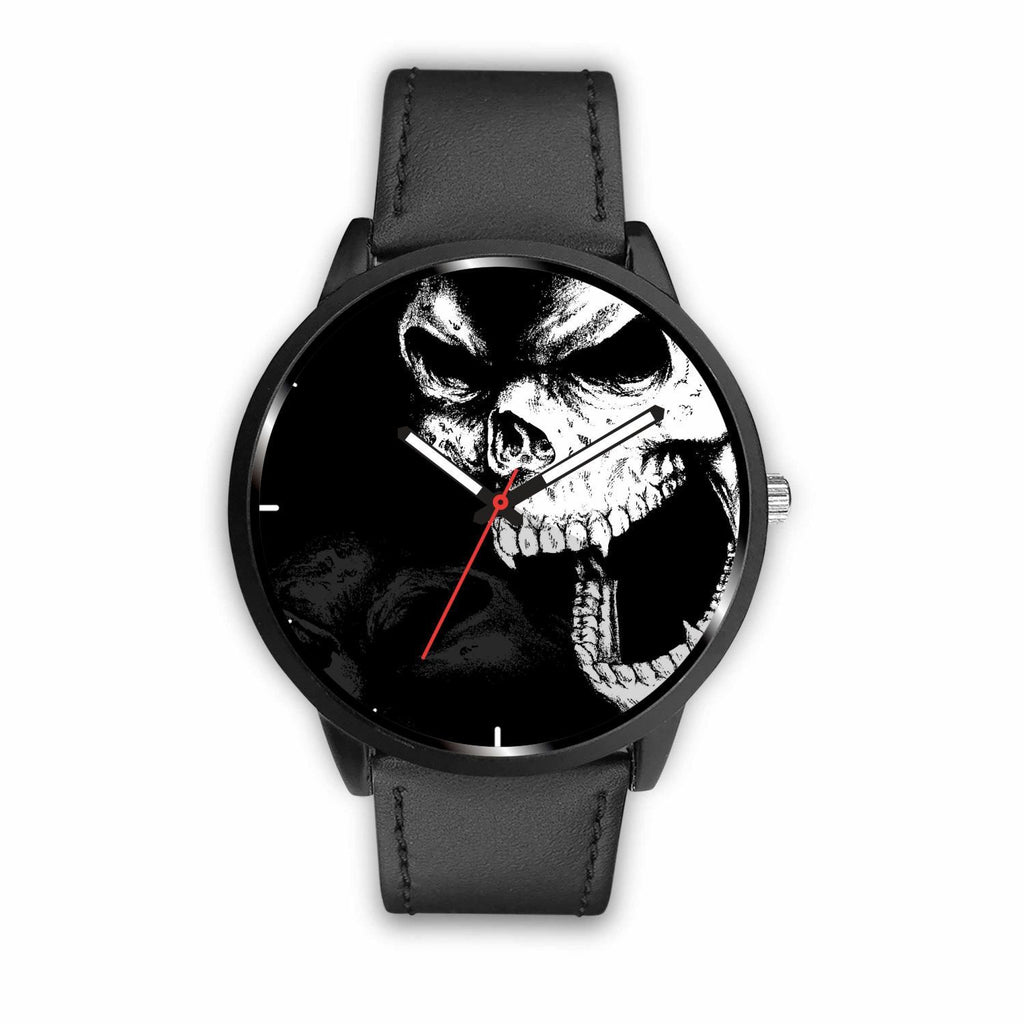 wc-fulfillment Watch Mens 40mm / Black Angry Skull Watch