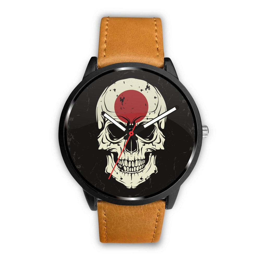 wc-fulfillment Watch Mens 40mm / Brown JAPANESE SKULL WATCH