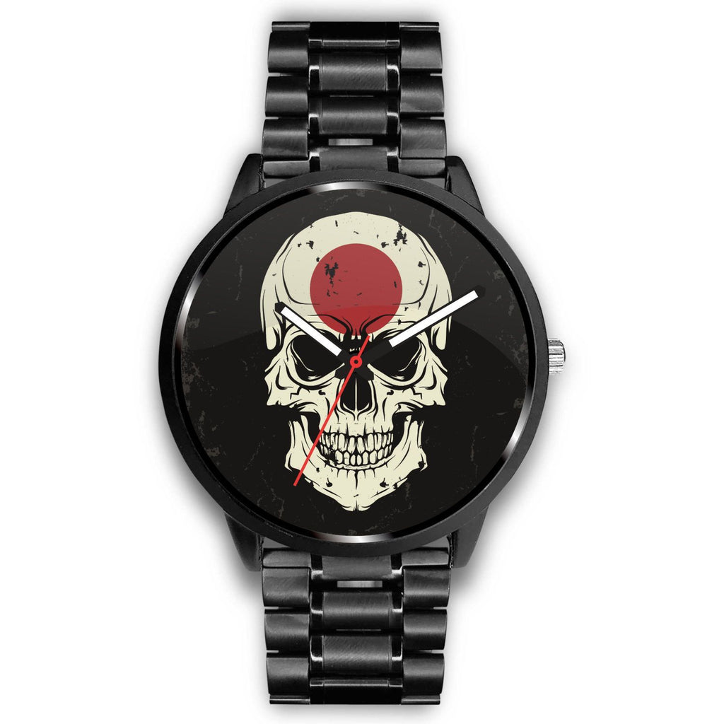 wc-fulfillment Watch Mens 40mm / Metal Link JAPANESE SKULL WATCH