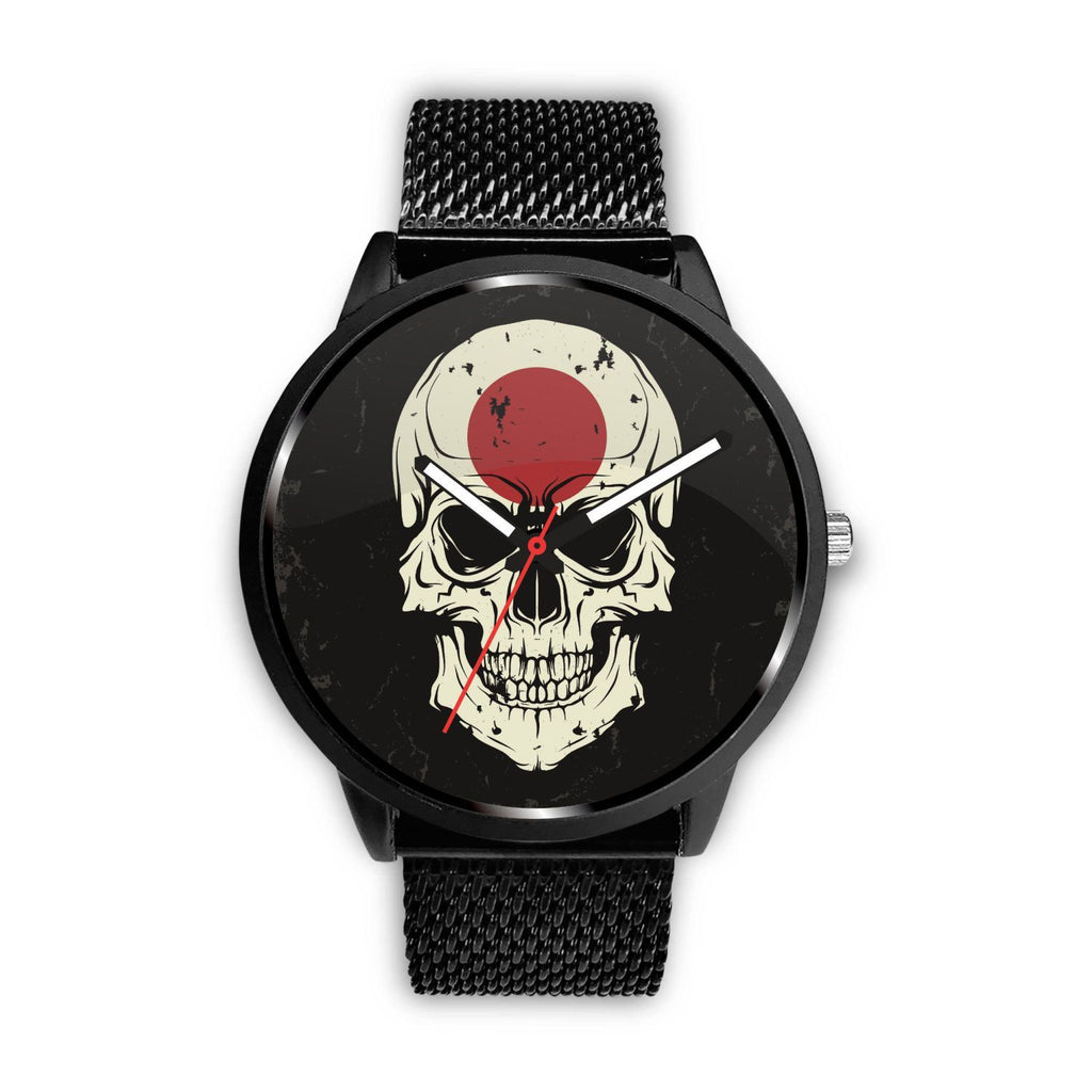 wc-fulfillment Watch Mens 40mm / Metal Mesh JAPANESE SKULL WATCH