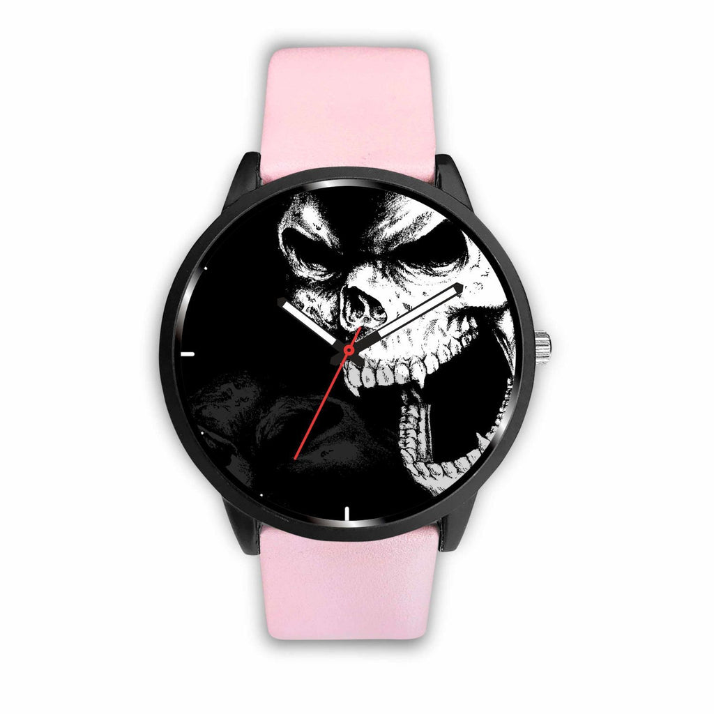 wc-fulfillment Watch Mens 40mm / Pink Angry Skull Watch