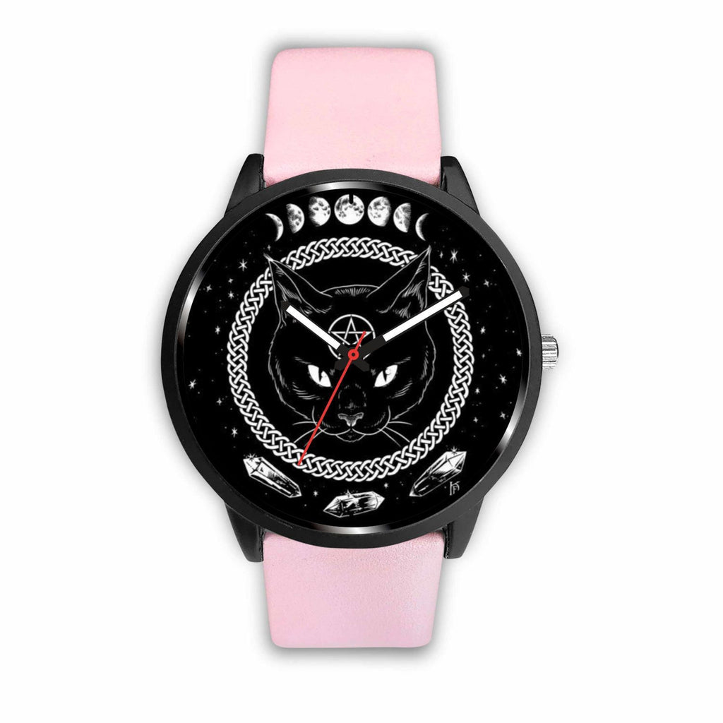 wc-fulfillment Watch Mens 40mm / Pink Black Cat Gothic Watch