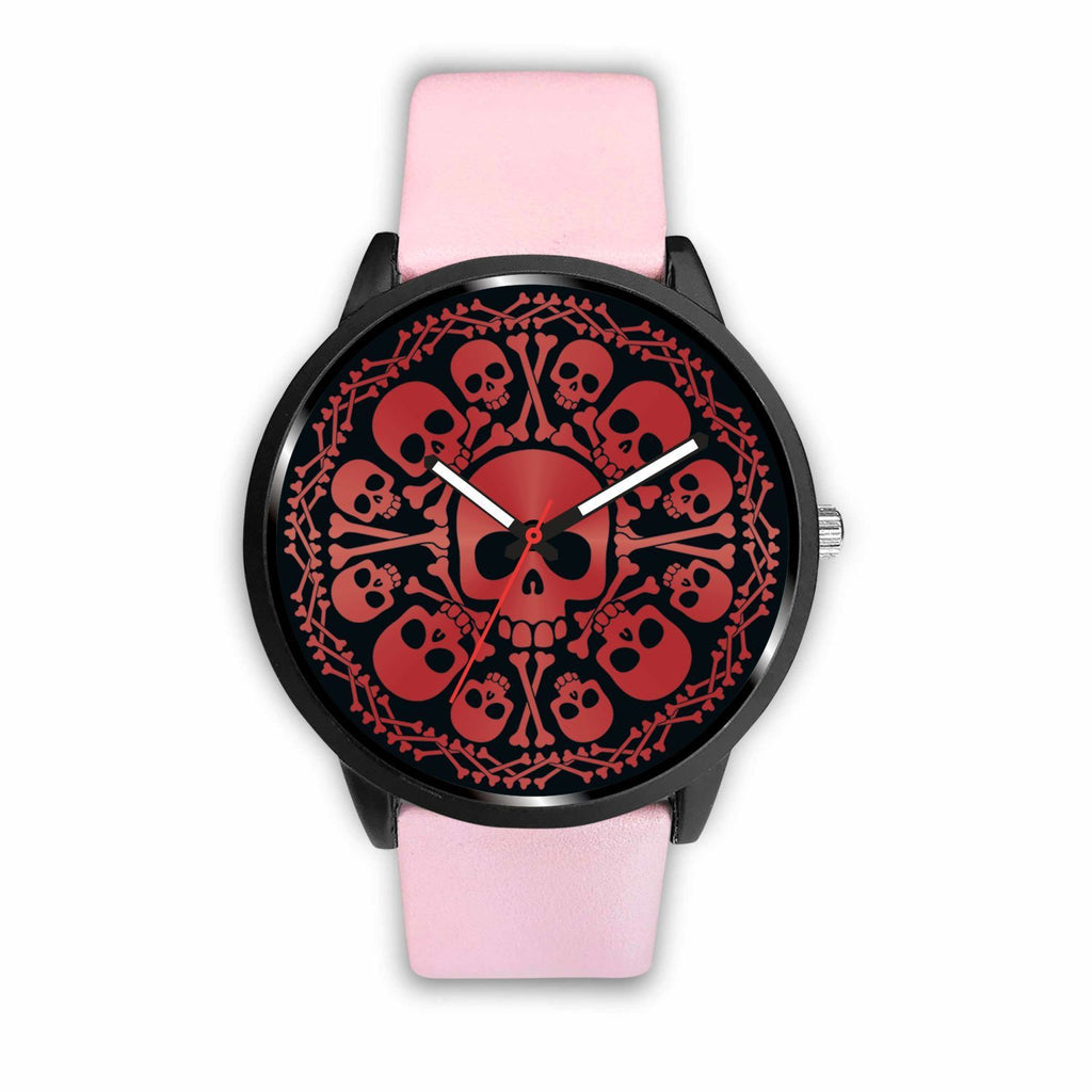 wc-fulfillment Watch Mens 40mm / Pink Red Skulls Watch