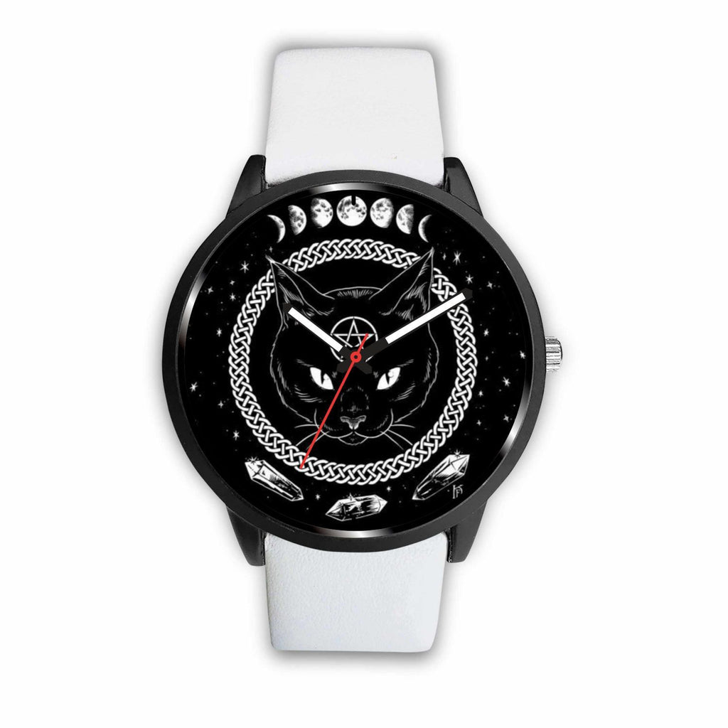 wc-fulfillment Watch Mens 40mm / White Black Cat Gothic Watch