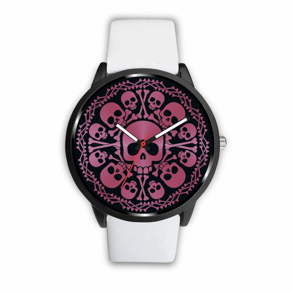 wc-fulfillment Watch Mens 40mm / White Pink Skulls Watch
