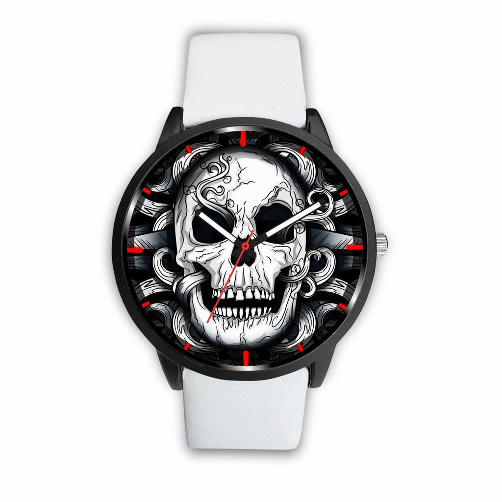 wc-fulfillment Watch Mens 40mm / White Punk Dark Skull Watch
