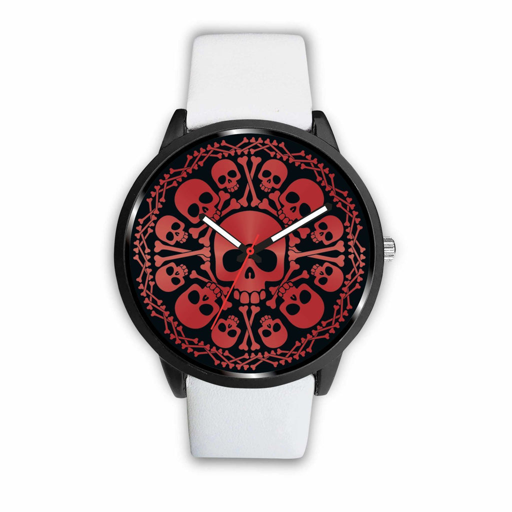 wc-fulfillment Watch Mens 40mm / White Red Skulls Watch