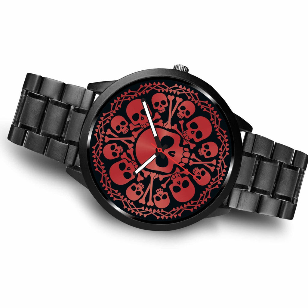 wc-fulfillment Watch Red Skulls Watch