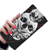 wc-fulfillment Womens Wallet Skull & Moon Women Wallet