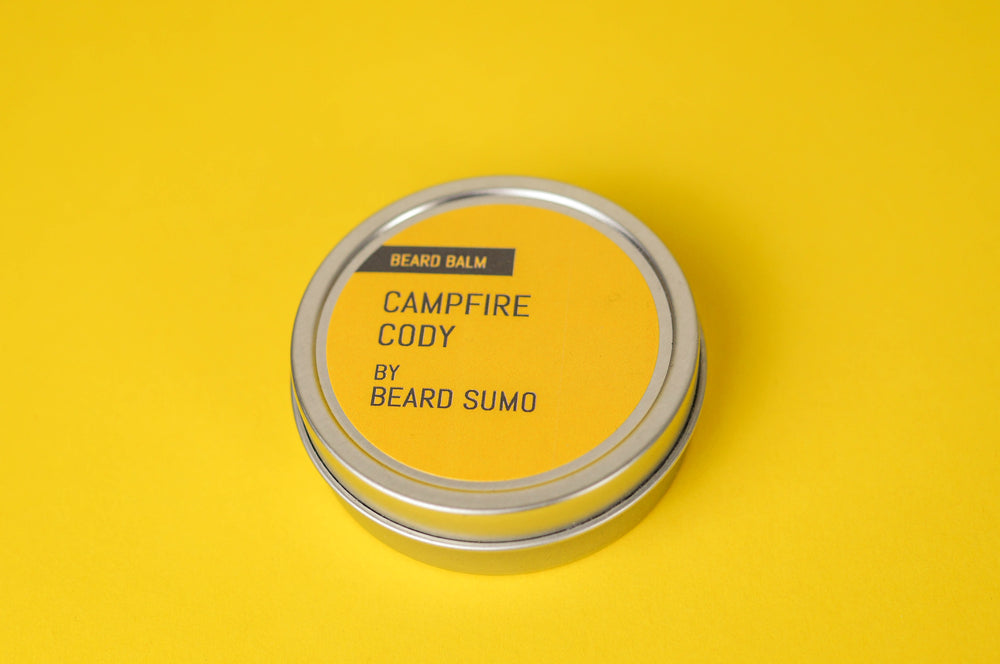 Closed Campfire Cody beard balm canister