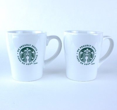 Starbucks 'We Proudly Serve' Ceramic Mugs - Dozen