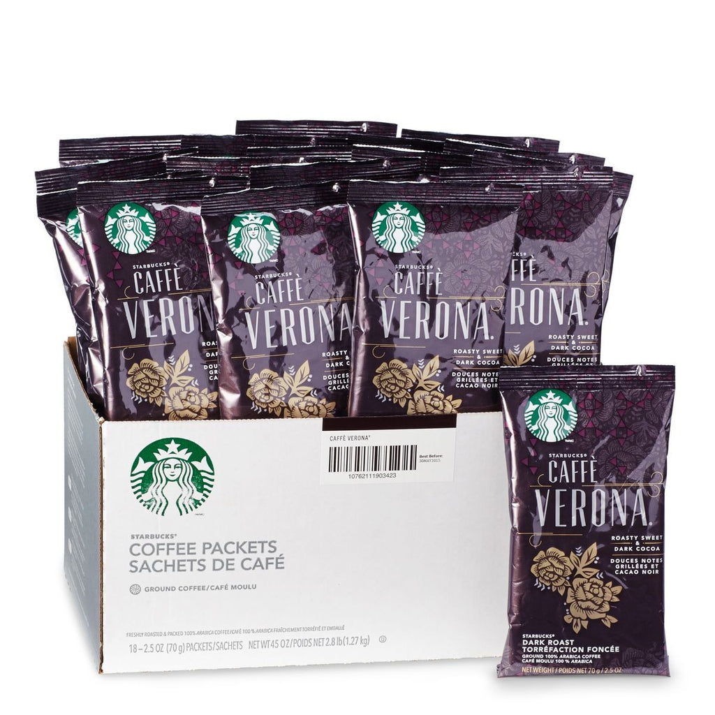 Starbucks Caffé Verona Ground Portion Packs 18 X 2.5 OZ