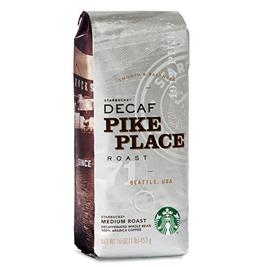 Starbucks Decaf Pike Place Whole Bean 1lb