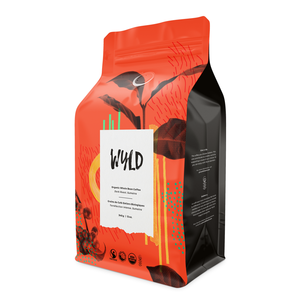 Wyld Sumatra-Dark Whole Bean 1lb - FTO
