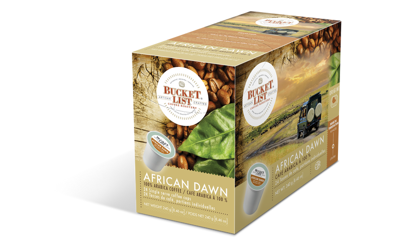 Bucket List Coffee African Dawn K Cups 24 ct