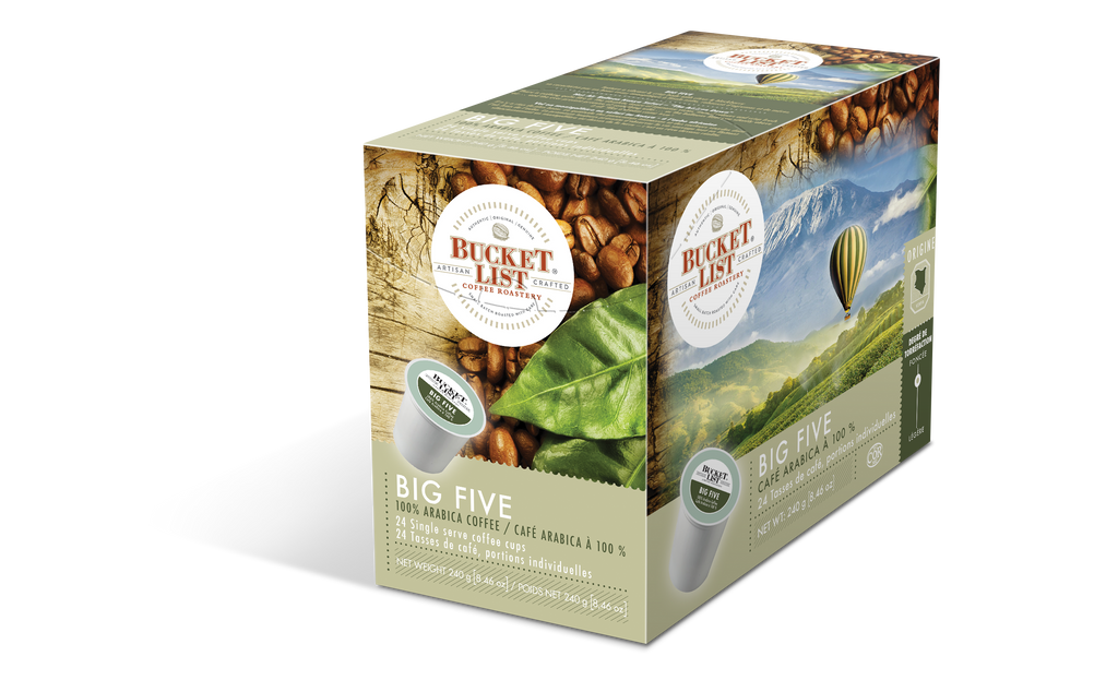 Bucket List Coffee Big Five K Cups 24 ct