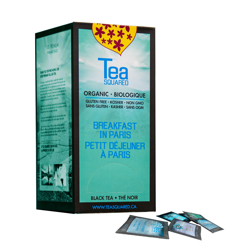 Tea Squared Breakfast In Paris Pyramid Tea Bags 100ct