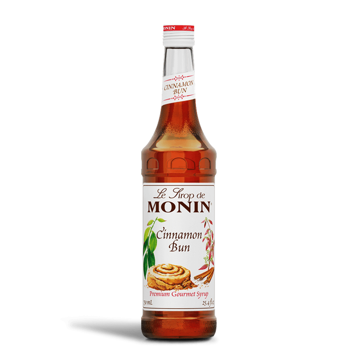 Monin Cinnamon Bun Syrup 750ml, With Pump