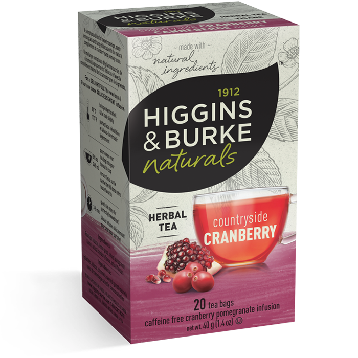 Higgins & Burke Countryside Cranberry Herbal Tea 20's