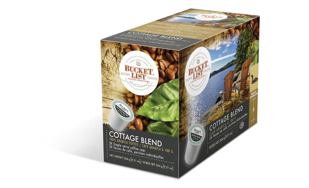 Bucket List Coffee Cottage Blend K Cups 24 ct