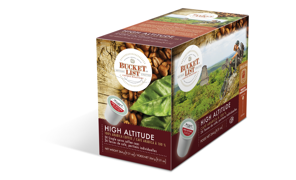 Bucket List Coffee High Altitude K Cups 24 ct