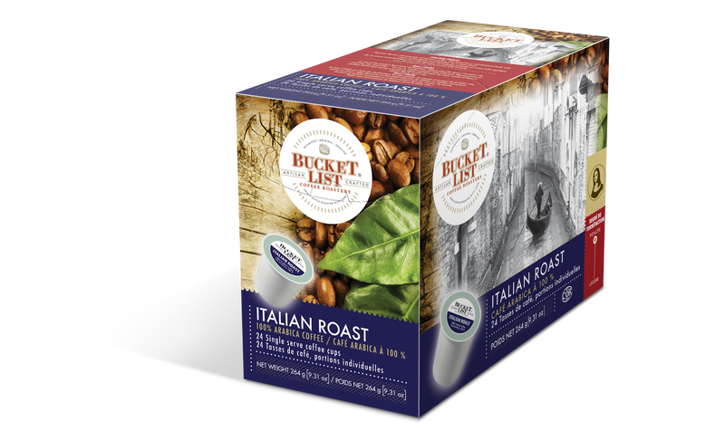 Bucket List Coffee Italian Roast K Cups 24 ct