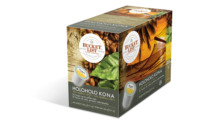 Bucket List Coffee Holoholo Kona K Cups 24 ct