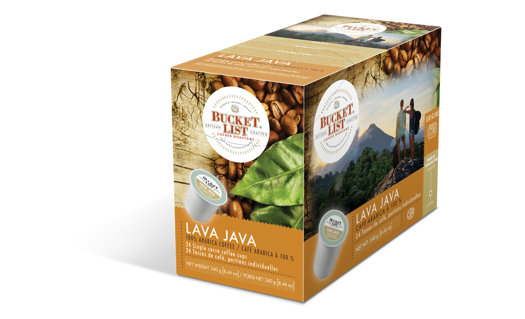 Bucket List Coffee Lava Java K Cups 24 ct